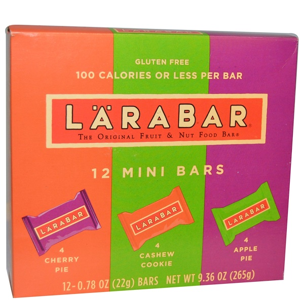 Larabar, Mini Multipack Bars, 12 Mini Bars, 0.78 oz (22 g) Each (Discontinued Item)