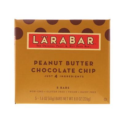 Фото - Батончик с арахисовым маслом и шоколадной крошкой, 5 батончиков, 1,6 унции (45 г) каждый premium nutrition bars хрустящие ириски с арахисовым маслом 15 батончиков по 2 унции 57 г каждый