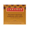 Larabar, Chocolate Chip Manteiga de Amendoím, 5 Barras, 1.6 oz (45 g) Each