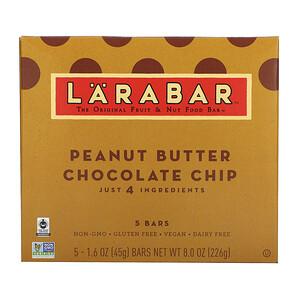 Ларабар, The Original Fruit & Nut Food Bar, Peanut Butter Chocolate Chip, 5 Bars, 1.6 oz (45 g) Each отзывы покупателей