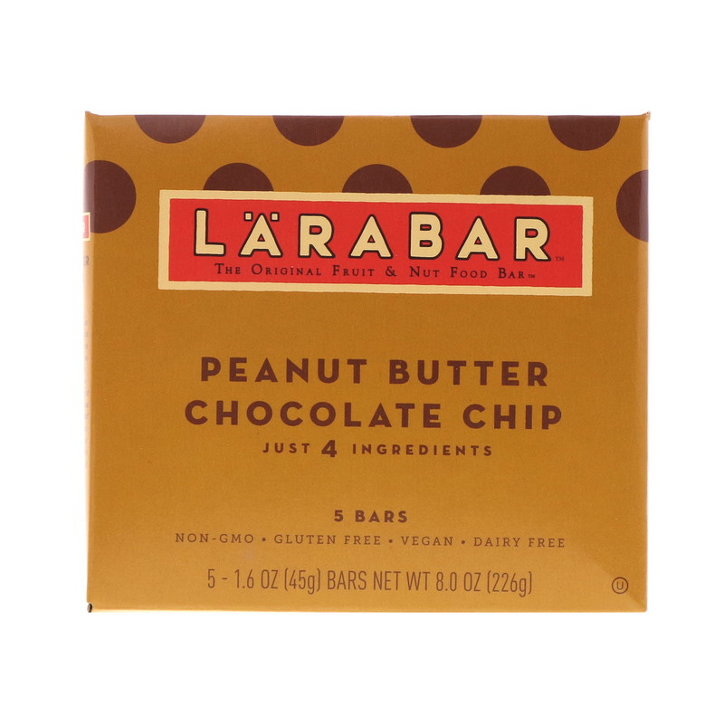 Peanut Butter Chocolate Chip, 5 Bars, 1.6 oz (45 g) Each