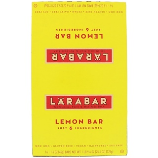 Larabar, Lemon Bar, 16 Bars, 1.6 oz (45 g) Each