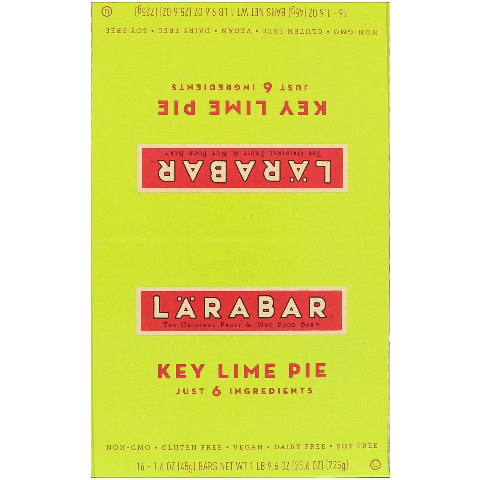 Larabar, Лаймовый пирог, 16 батончиков, 1,6 унции (45 г) каждый