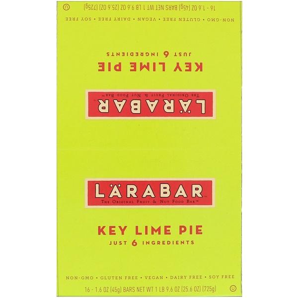Larabar, 酸橙派,16條,每條1、6盎司(45克)