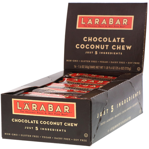 Larabar, Chocolate e Coco, 16 Barrinhas, 1,6 oz (45 g) cada