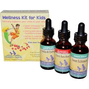 Хербс фо кидс, Wellness Kit for Kids, 3 Products, 1 fl oz (30 ml) Each отзывы