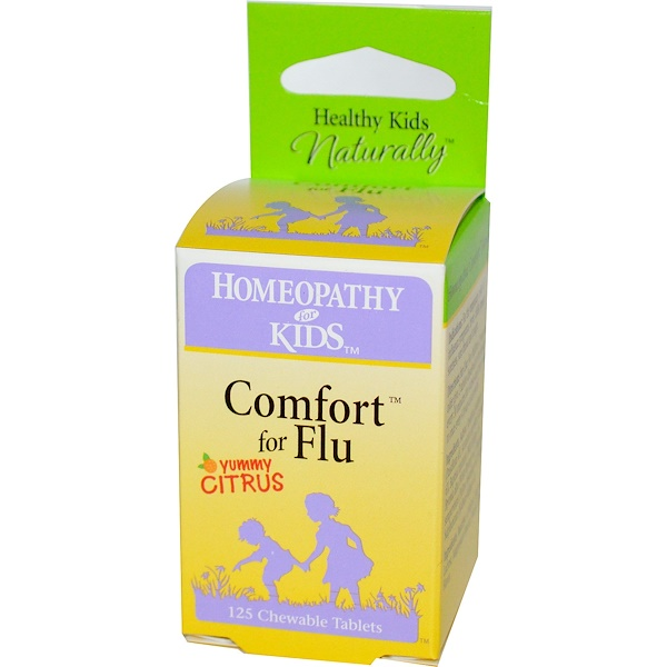 Herbs for Kids, Comfort for Flu, Yummy Citrus, 125 Chewable Tablets (Discontinued Item)