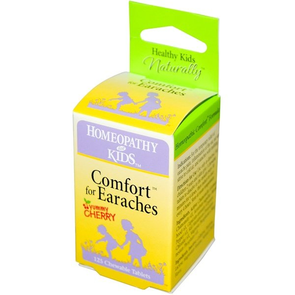 Herbs for Kids, Comfort for Earaches, Yummy Cherry, 125 Chewable Tablets (Discontinued Item)