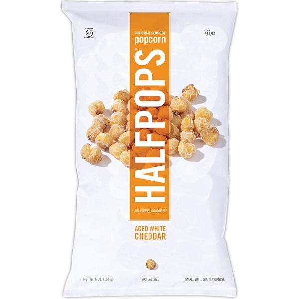 Halfpops, Curiously Crunchy Popcorn, Aged White Cheddar, 6 oz (168 g) (Discontinued Item)