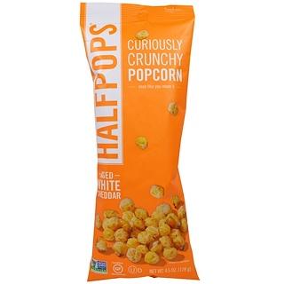 Halfpops, Curiously Crunchy Popcorn, Aged White Cheddar, 4.5 oz (128 g)