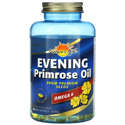 Health From The Sun масло примулы вечерней, 500мг, 180мягких мини-таблеток