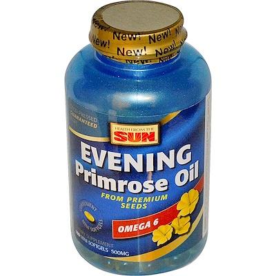 Health From The Sun Масло вечерней примулы, омега-6, 180 желатиновых миникапсул  - купить со скидкой