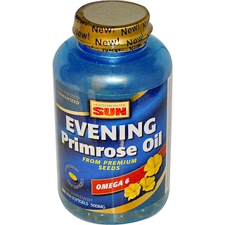Health From The Sun, Evening Primrose Oil, Omega-6, 500 mg, 180 Mini Softgels
