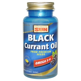 Health From The Sun, Black Currant Oil, 500 mg, 90 Mini Softgels