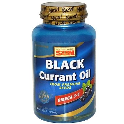 Масло из семян черной смородины, 1000 мг, 60 мягких желатиновых капсул