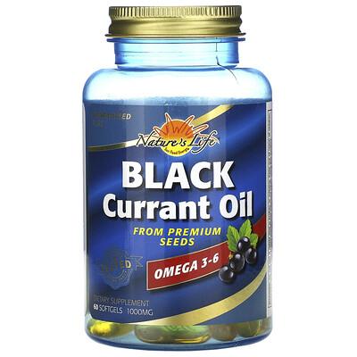 Health From The Sun Масло из семян черной смородины, 1000 мг, 60 мягких желатиновых капсул