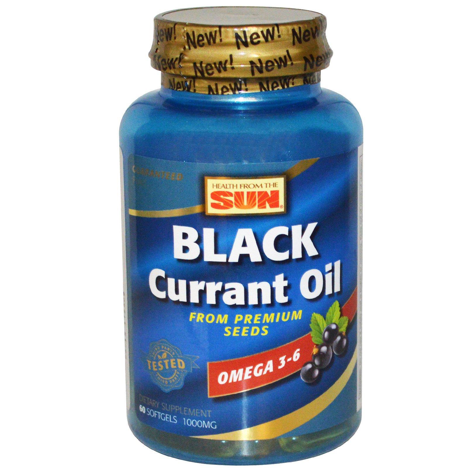 Health From The Sun, Масло черной смородины, 1000 мг, 60 капсул