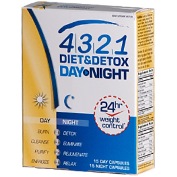 Health From The Sun, 4.3.2.1 Diet & Detox Day Night, 15 Day-15 Night Capsules (Discontinued Item)