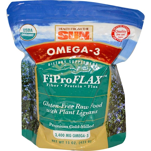 Health From The Sun, Omega-3, Original FiProFlax, 15 oz (425 g)