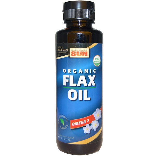 Health From The Sun, Organic Flax Oil , 8 fl oz (237 ml) (Discontinued Item)