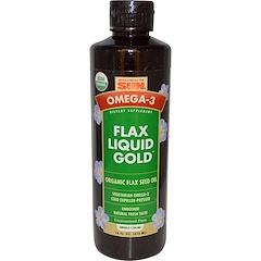 Health From The Sun, オメガ-3、亜麻仁油、Liquid Gold™(リキッドゴールド)、16 液量オンス (473 ml)