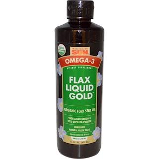 Health From The Sun, Omega-3, Flax Oil, Liquid Gold, 16 fl oz (473 ml)