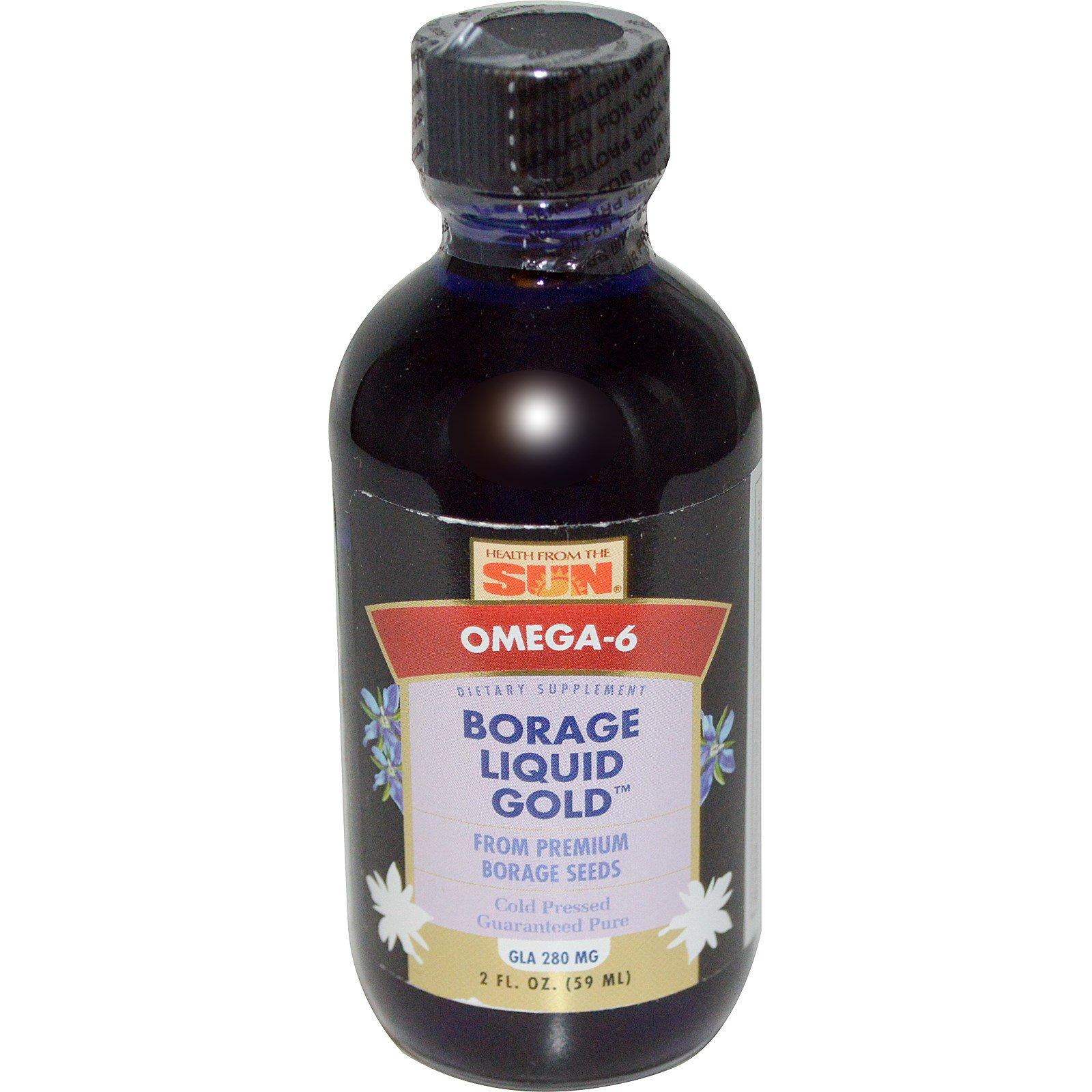 Health From The Sun, Жидкое золото, Масло огуречника, 2 жидкие унции (59 мл)