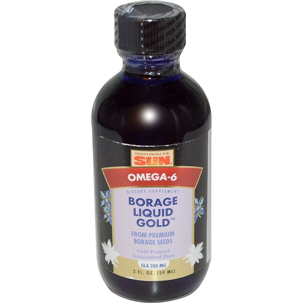 Health From The Sun, Borage Liquid Gold, 2 fl oz (59 ml) (Discontinued Item)