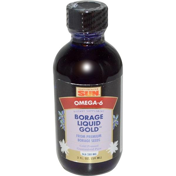 Health From The Sun, Borage Liquid Gold, 2 fl oz (59 ml) (Discontinued Item)
