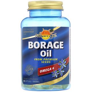 Nature's Life, Borage Oil, 1000 mg, 60 Softgels
