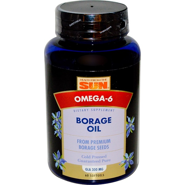 Health From The Sun, Borage Oil, 60 Softgels