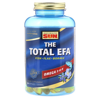 Health From The Sun, The Total EFA, 1200 mg, 90 Softgels