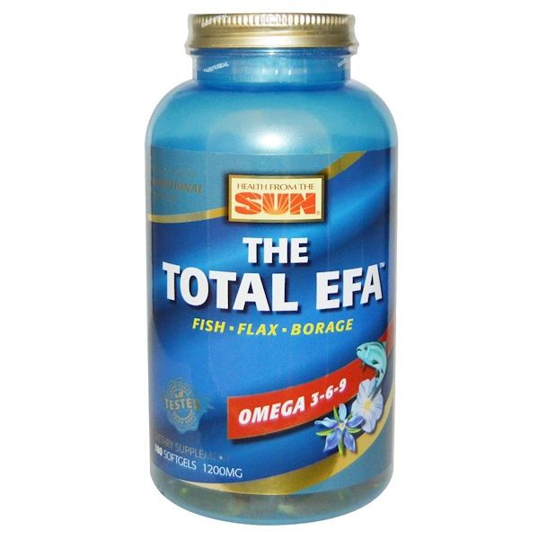 The Total EFA, Omega 3-6-9, 180 Softgels