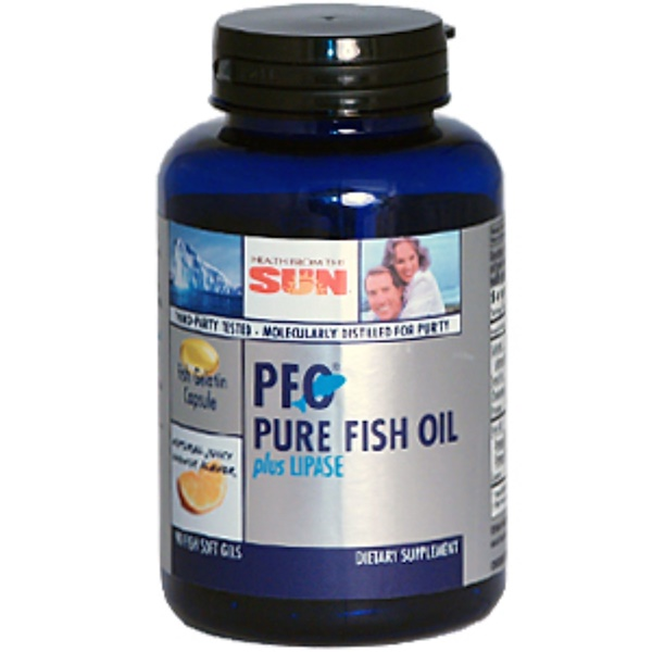 Health From The Sun, PFO Pure Fish Oil plus Lipase, 90 Soft Gels (Discontinued Item)