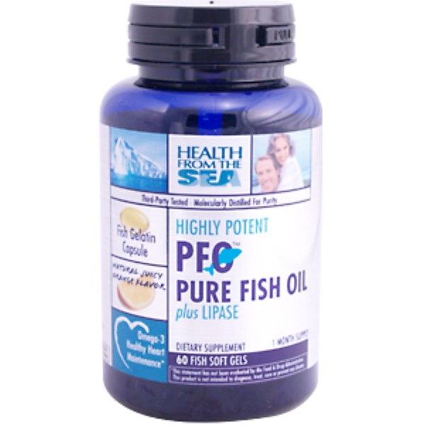 Health From The Sun, Highly Potent PFO Pure Fish Oil plus Lipase, 60 Soft Gels (Discontinued Item)