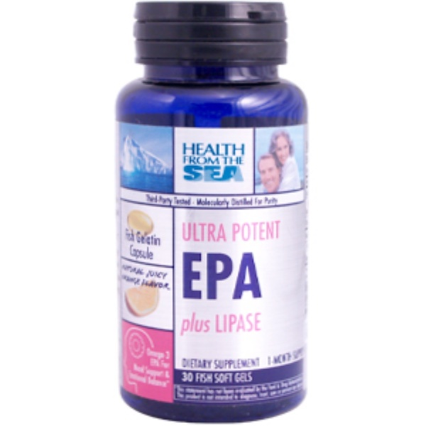 Health From The Sun, Ultra Potent EPA plus Lipase, 30 Soft Gels (Discontinued Item)