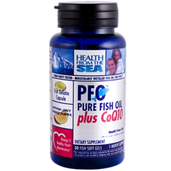 Health From The Sun, PFO Pure Fish Oil plus CoQ10, 30 Softgels (Discontinued Item)