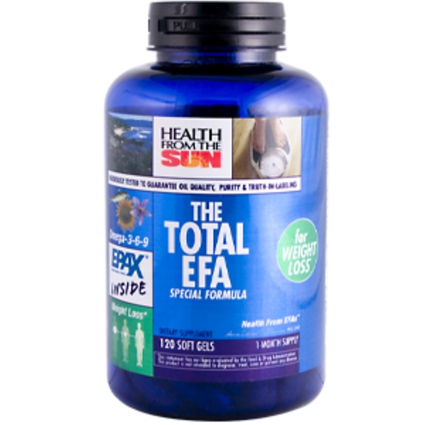 Health From The Sun, The Total EFA Special Weightloss Formula, 120 Soft Gels (Discontinued Item)