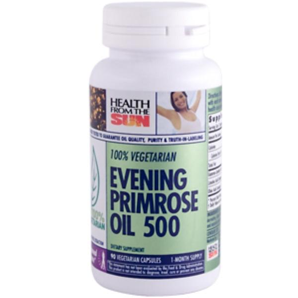Health From The Sun, Evening Primrose Oil 500, 90 Veggie Caps (Discontinued Item)