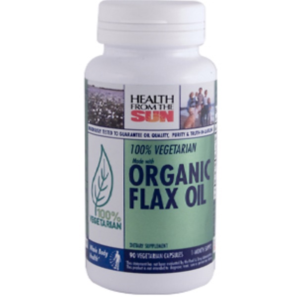 Health From The Sun, Organic Flax Oil, 90 Veggie Caps (Discontinued Item)