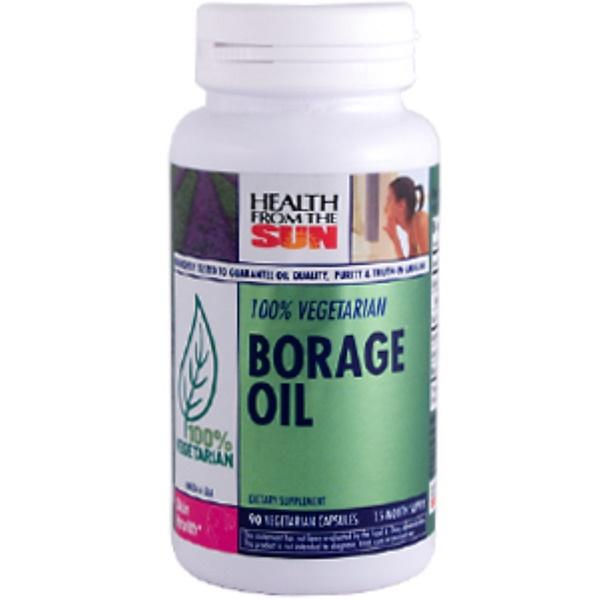 Health From The Sun, Vegetarian Borage Oil, 90 Veggie Caps (Discontinued Item)