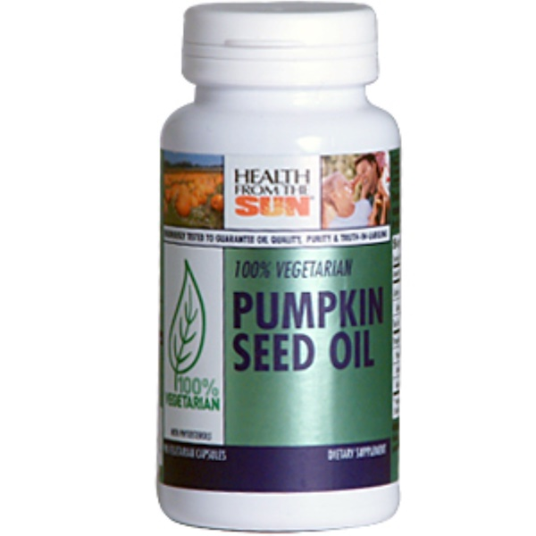 Health From The Sun, 100% Vegetarian Pumpkin Seed Oil, 90 Veggie Caps (Discontinued Item)