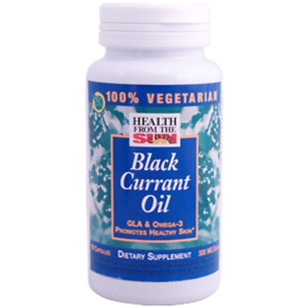 Health From The Sun, Black Currant Oil, 500 mg, 90 Capsules (Discontinued Item)