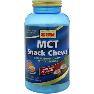 Health From The Sun, MCT Snack Chews, Orange Flavor, 90 Chewable Tablets