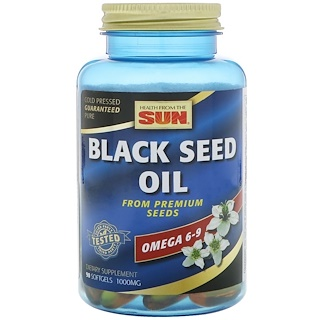Health From The Sun, Black Seed Oil, 90 Softgels