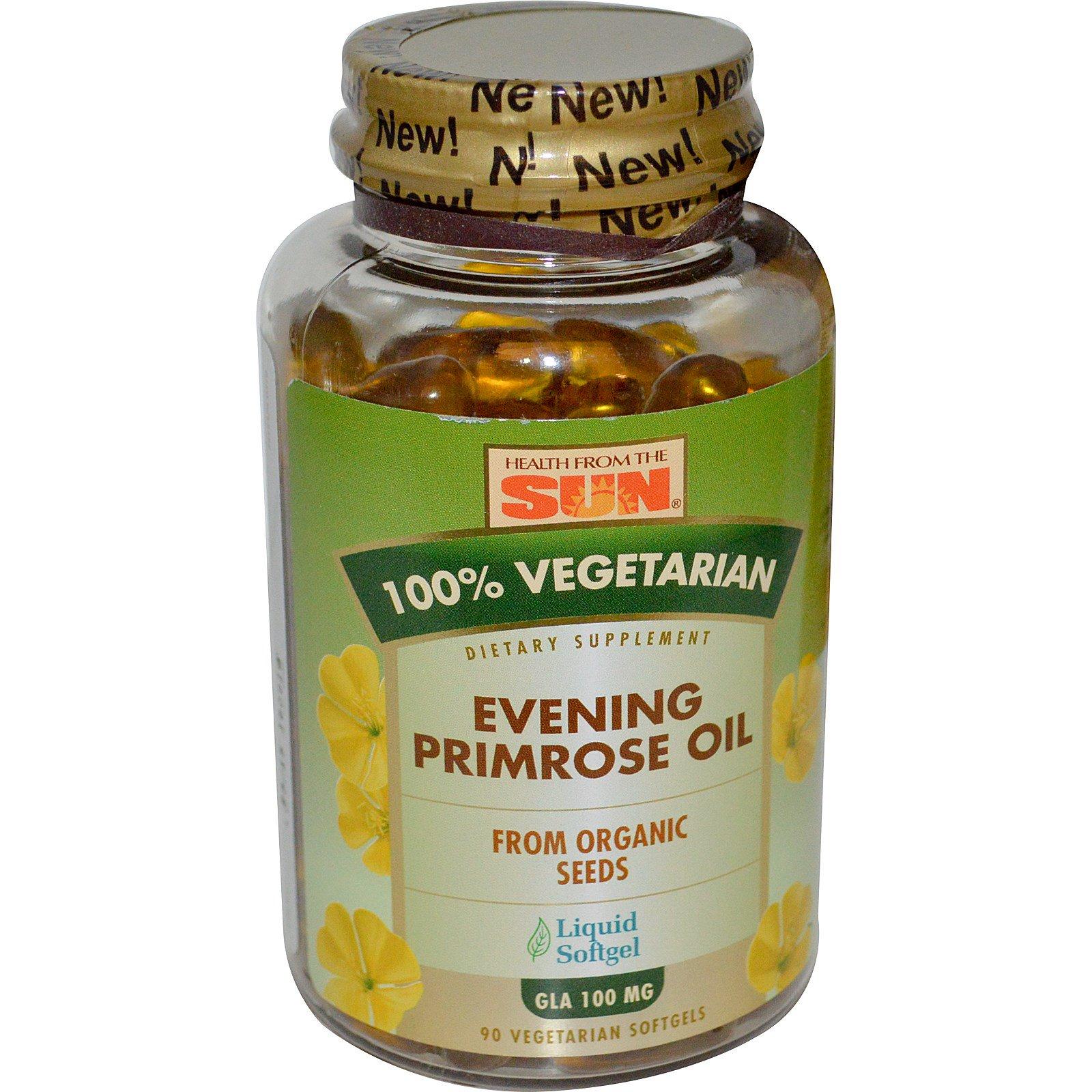 Health From The Sun, Масло примулы вечерней, 100% растительный состав, 90 вегетарианских гелевых капсул