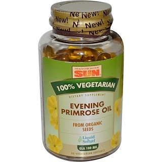 Health From The Sun, Evening Primrose Oil, 100% Vegetarian, 90 Veggie Softgels