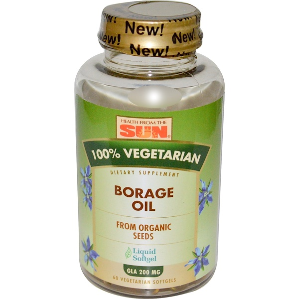 Health From The Sun, 100% Vegetarian Borage Oil, 60 Veggie Softgels (Discontinued Item)