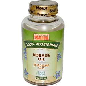 Хэлс фром де сан, 100% Vegetarian Borage Oil, 60 Veggie Softgels отзывы