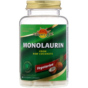 Натурес Лифе, Monolaurin, 90 Vegetarian Capsules отзывы